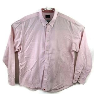 Untuckit Mens XL Pink L/S Button Down Shirt Cotton